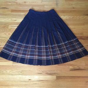 Vintage Pendleton Wool Pleated Midi Skirt 12